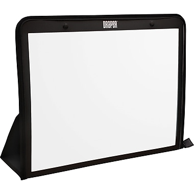 Draper 25in. Portable Table Top Projector Screen, 4:3, Black Casing