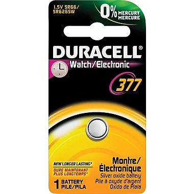 Duracell® D377B 1.5V Silver Oxide Battery for Watches and Calculators