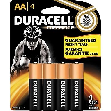 Duracell® AA Alkaline Batteries, 4-Pack