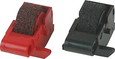 Porelon PR 78B R Black and Red Calculator Ink Rollers 2 Pack