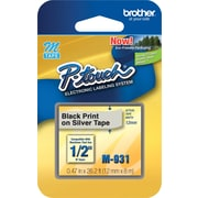 "Brother 1/2"" Black on Silver tape (M931)"