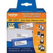 "Brother DK1201 Die-Cut Standard Address Labels, 1-1/7"" x 3-1/2"""