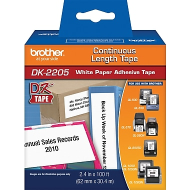 Brother Continuous Length Paper Label 2-3/7in.