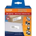 Brother Black/White Continuous Length Paper Tape 1-1/7in. x 100'