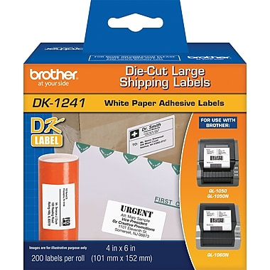 Brother DK1241 Large Shipping Labels, 4