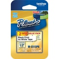 Brother® M Series 1/2in. Tape Cartridges; Black on White
