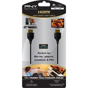 PNY HDMI to HDMI Thin Cable, 6'