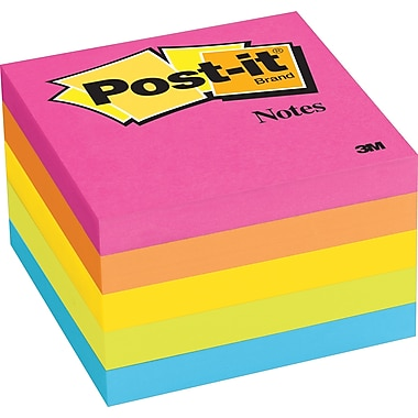 Post-it® 3in. x 3in. Neon Notes, 5 Pads/Pack