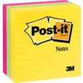 Post-it® 4in. x 4in. Line-Ruled Ultra Colors Notes, 3 Pads/Pack