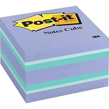 Post-it® 3in. x 3in. Purple Passion Designer Memo Cube, Each