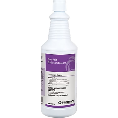 Brighton Professional Non Acid Disinfectant Bathroom Cleaner 32 Oz Staples