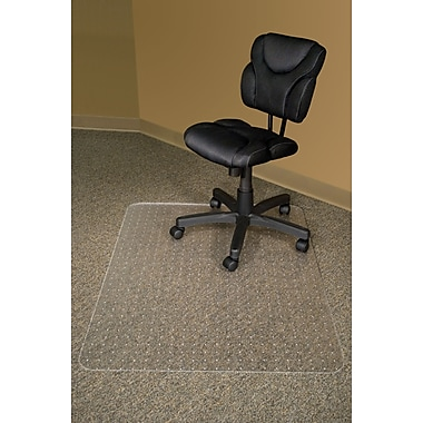 Advantus RecyClear Chair Mats for Carpet, Rectangular, 46in.x60in.