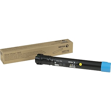 Xerox Phaser 7800 Cyan Toner Cartridge (106R01566),  High Yield