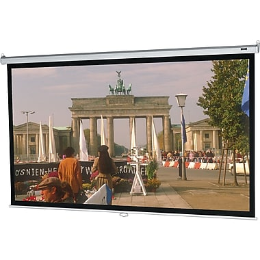 Da-Lite Model B 71in. Manual  Wall and Ceiling Projection Screen, 1:1, White Casing