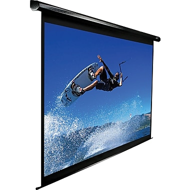 Elite Screens VMAX2 Series 113in. Mounted Electric Projector Screen, 1:1, Black Casing
