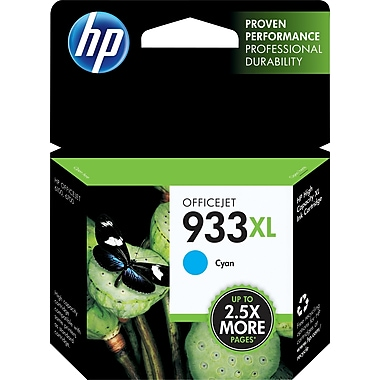 HP 933XL Cyan Ink Cartridge (CN054AN#140), High Yield