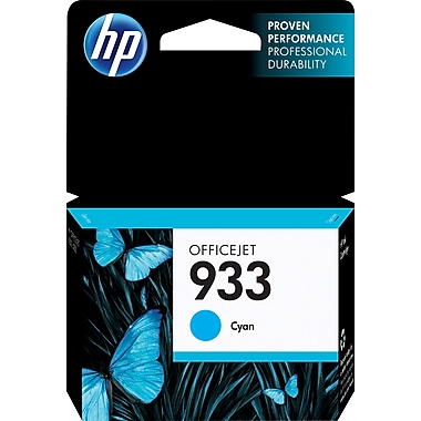 HP 933 Cyan Ink Cartridge, (CN058AN#140)