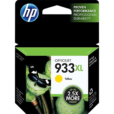 HP 933XL Yellow Ink Cartridge (CN056AN#140), High Yield