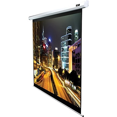 Elite Screens VMAX2 Series 113in. Mounted Electric Projector Screen, 1:1, White Casing
