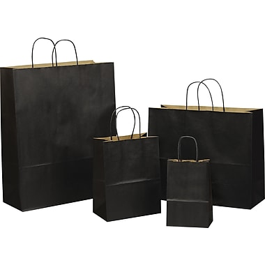 Tinted Color Shadow India Ink with Stripe Shopping Bag, Size 8in. W x 4-3/4 in. D x  10-1/2in. H