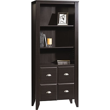 Sauder Shoal Creek Collection Library with Doors, Jamocha Wood