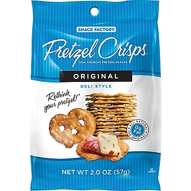 Pretzel Crisps®, Original, 2 oz., 12 Bags/Box