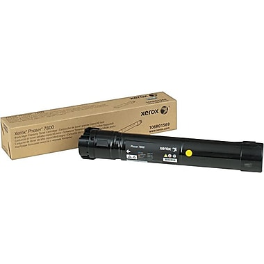 Xerox Phaser 7800 Black Toner Cartridge (106R01569), High Yield