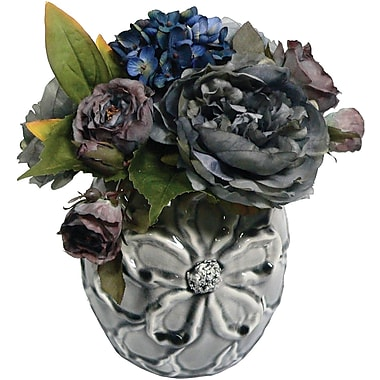 Laura Ashley Hydrangea and Peony Arrangement #2 in a Designer Ceramic Container
