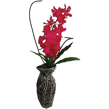 Laura Ashley Fuschia Orchid in Designer Ceramic Container