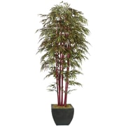 Laura Ashley® 8ft Silk Bamboo Tree with Decorative Planter