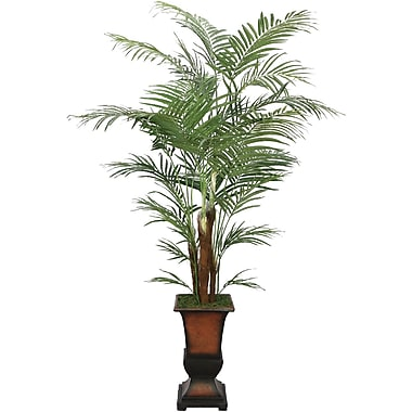 Laura Ashley 7' Silk Areca Palm Tree in a Decorative Planter