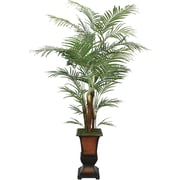 Laura Ashley® 7' Silk Areca Palm Tree in a Decorative Planter