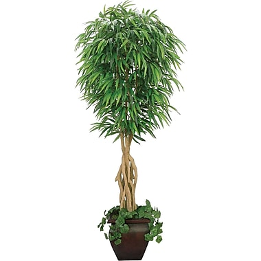 Laura Ashley 7' Silk Willow Ficus Tree in a Decorative Planter