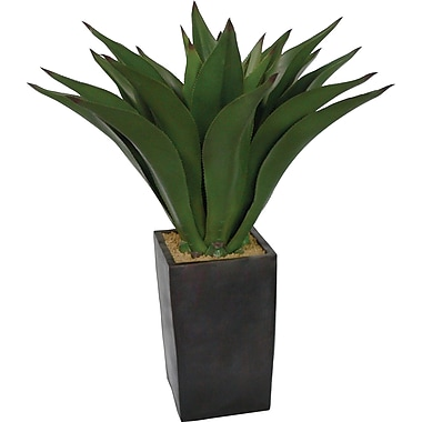Laura Ashley 44in. Giant Silk Aloe Plant in a Contemporary Planter