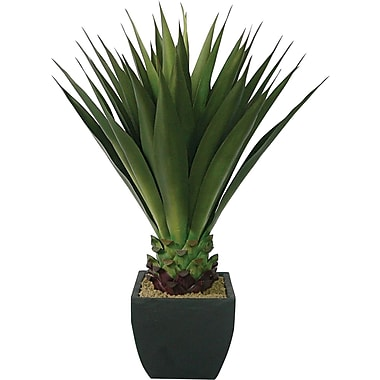 Laura Ashley 43in. Giant Silk Aloe Plant in a Contemporary Planter