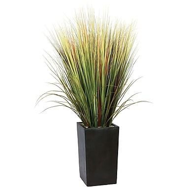 Laura Ashley 60in. Silk Grass Floor Plant in Contemporary Planter