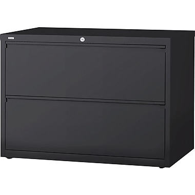 Hirsh HL 10000 Series Lateral File 2- Drawer Cabinet, Charcoal