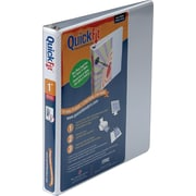 1  Stride® Quick Fit D-Ring View Binder, Capacity,  White