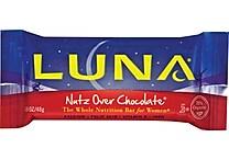 LUNA® Nutz Over Chocolate Bars, 1.69 oz. Bars, 15 Bars/Box