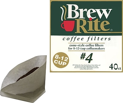 Brew Rite 8 12 Cup 4 Cone Coffee Filters 40 Pack