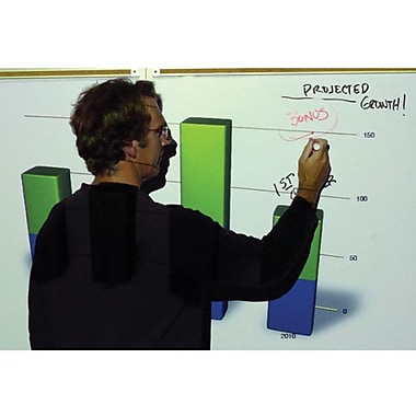 Elite Screens Insta-DEM Series 52in. Whiteboard Projection Screen, 4:3, White Casing