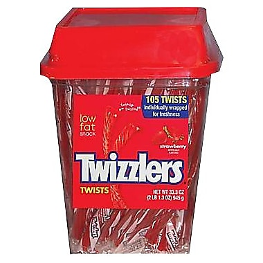 Twizzlers® Strawberry Flavored Twists Candy, 105 Pieces/Tub