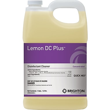 Brighton Professional™ Lemon DC Plus™ Disinfectant Cleaner, Quick Mix, Lemon Scent, 1 gal.