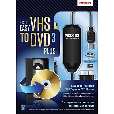 Roxio® - Ensemble VHS à DVD 3 Plus simple, bilingue