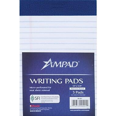 Ampad Mini Notepads, 3/Pack, 3-1/2in. x 5-1/4in.