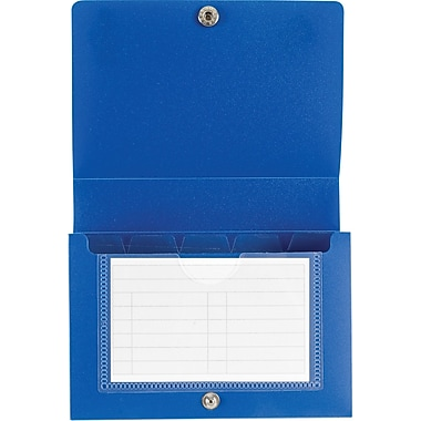 Staples Index Card Case, Blue, 3/Pack