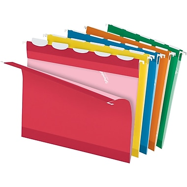 Pendaflex® Ready-Tab Hanging File Folders, Letter, 5 Tab, Assorted, 25/Box