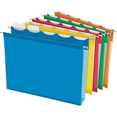 Pendaflex® Ready-Tab Box-Bottom, Hanging File Folders, Letter, 2in. Capacity, Assorted, 20/Box