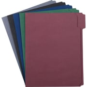 "Staples® Colored Reinforced Top Tab File Folders, 5-Tab, Assorted Subdued, LETTER-size Holds 8 1/2"" x 11"", 50/Bx"