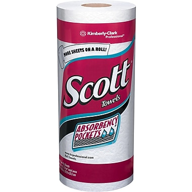 Scott®  Paper Towel Rolls, 1-Ply, 15 Rolls/Case